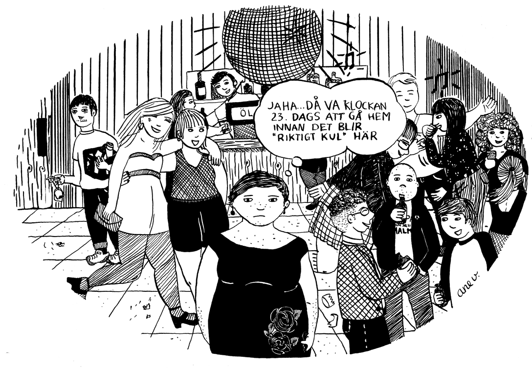 Illustration för Fria Tidningen med tema nykterhet