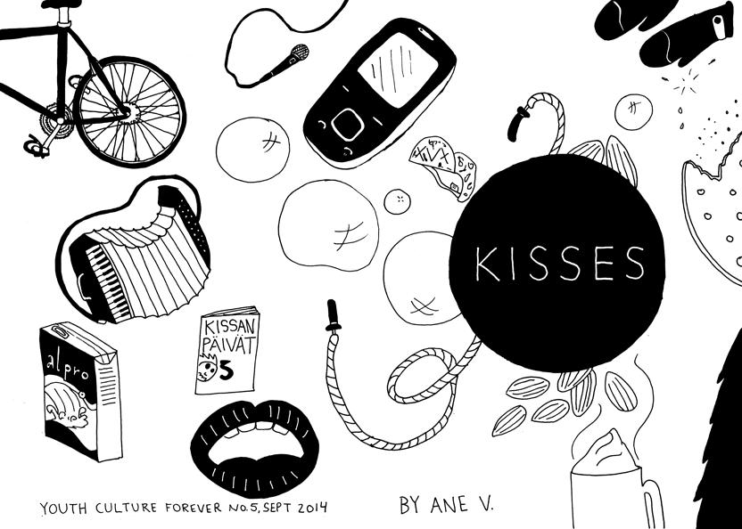 "Omslag till zinet ""Kisses"""